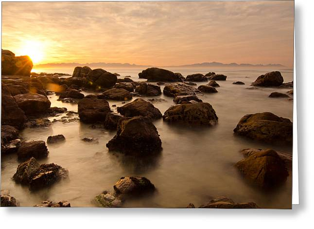 False Bay Sunrise Greeting Card by Aaron Bedell