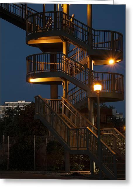 False Creek Stairway Greeting Card