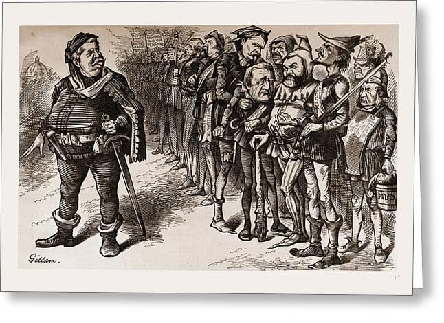 Falstaff Hancock And His Ragged Regiment Greeting Card