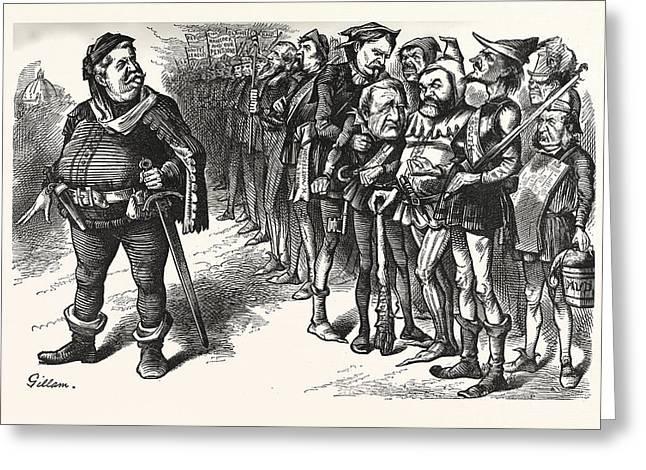 Falstaff Hancock His Ragged Regiment. Falstaff Greeting Card