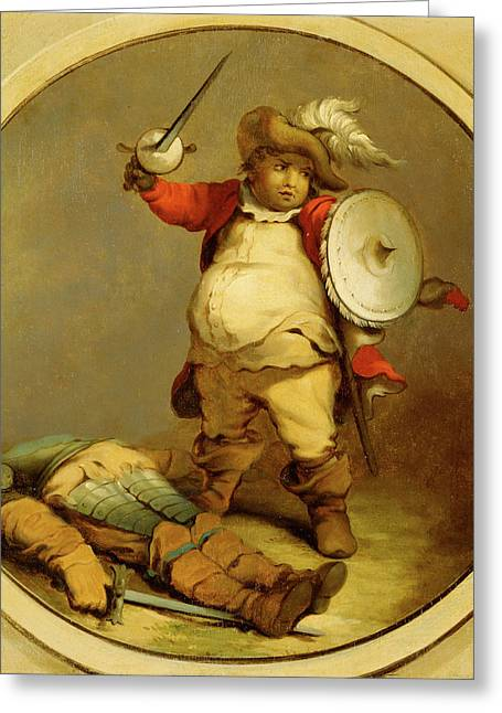 Falstaff With The Body Of Hotspur Falstaff With The Body Greeting Card