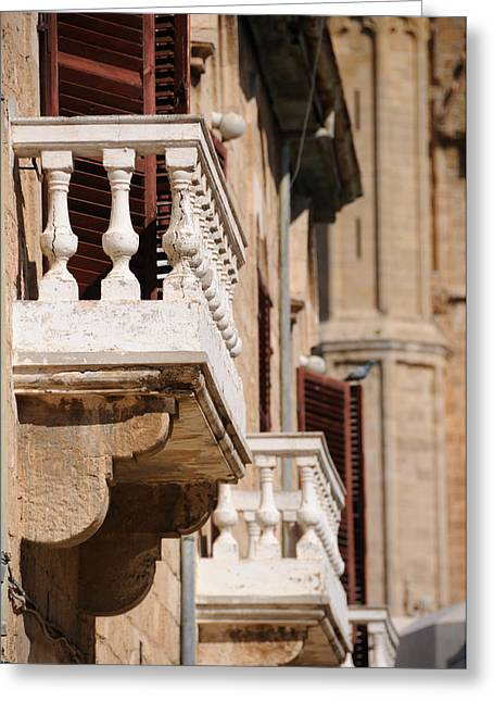 Famagusta Balconies Greeting Card by Jeremy Voisey