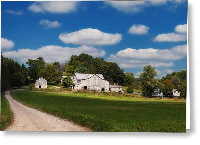 Family Farm Greeting Card by Tom Mc Nemar
