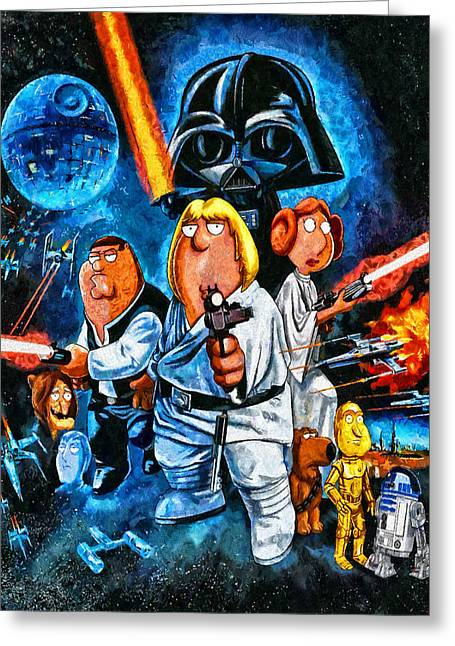 Family Guy Star Wars Greeting Card