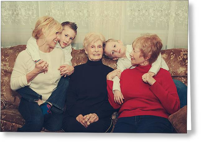 Family Greeting Card by Laurie Search
