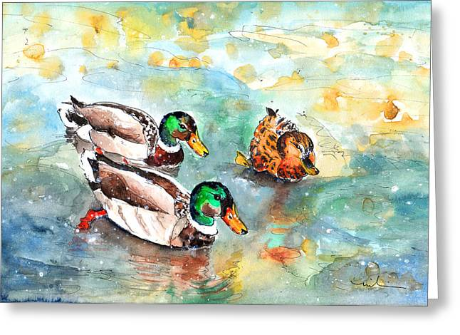 Family Life On Lake Constance Greeting Card by Miki De Goodaboom