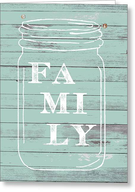 Family Mason Jar Greeting Card