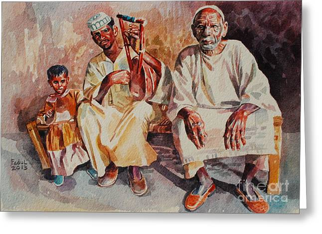 Family Greeting Card by Mohamed Fadul
