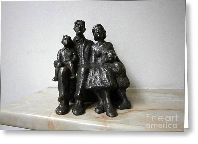 Family Greeting Card by Nikola Litchkov