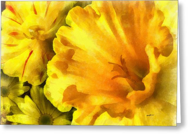Family Of Flowers Greeting Card by Anthony Caruso