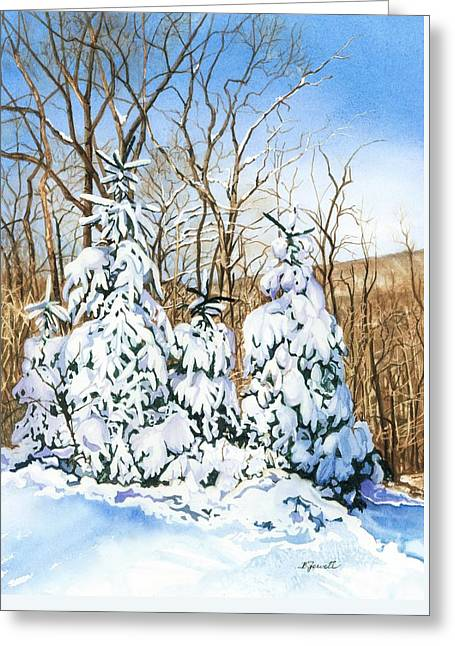 Family Of Four Trailside At 7 Springs Greeting Card