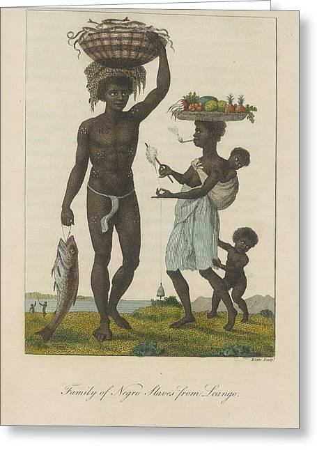 Family Of Negro Slaves Greeting Card