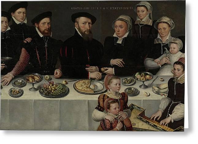 Family Portrait Of Pierre De Moucheron, Merchant Greeting Card