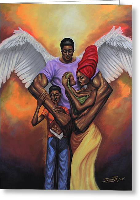 Family Protector Greeting Card by The Art of DionJa'Y