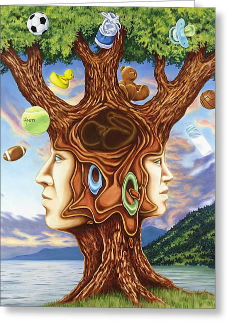 Family Tree Greeting Card by Charles Luna