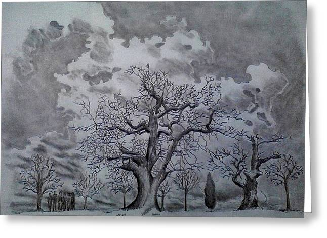 Family Tree Greeting Card by Mark Greenhalgh