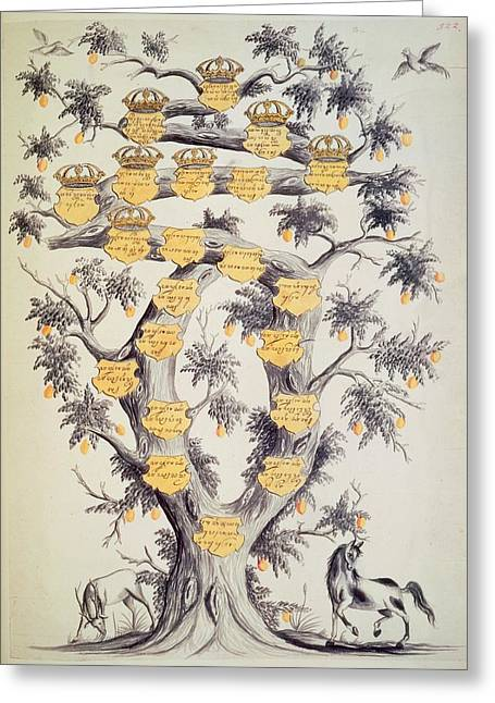 Family Tree Of Javanese Dynasty Greeting Card by British Library