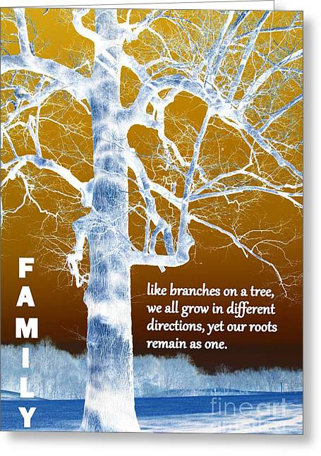 Family Tree Greeting Card by Patti Whitten