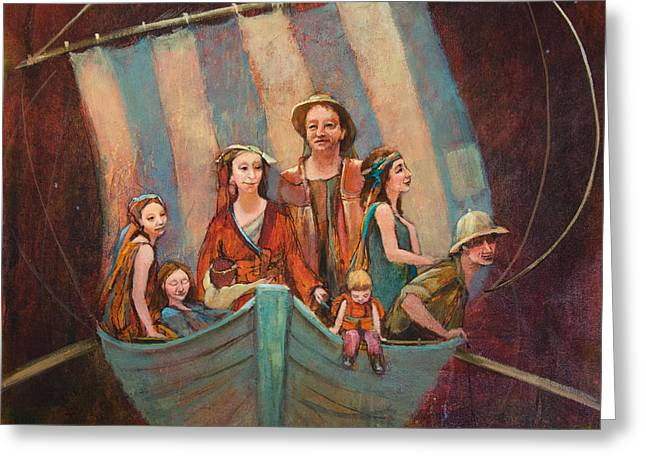 Family Vessel Greeting Card by Jennifer Croom