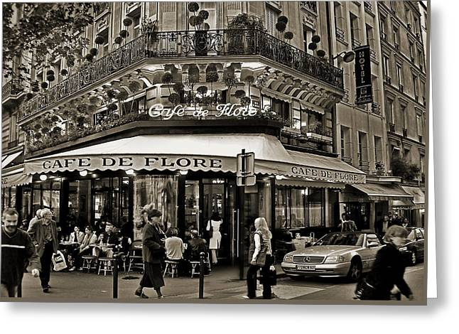 Famous Cafe De Flore - Paris Greeting Card