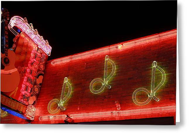 Famous Legends Corner Nashville Tennessee Greeting Card by Dan Sproul