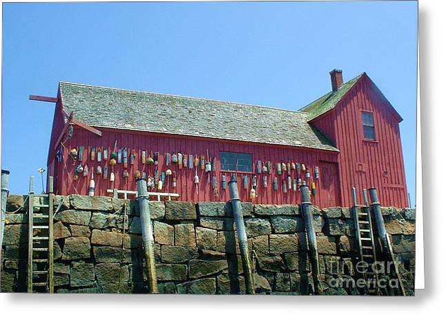 Greeting Card featuring the photograph Famous Photographers Landmmark Rockport Ma by Mary Lou Chmura
