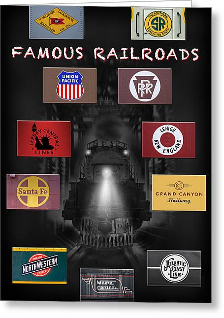 Famous Railroads Greeting Card by Mike McGlothlen