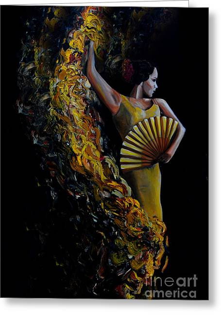 Fan Dance Greeting Card by Nancy Bradley