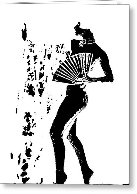 Fan Dancer Greeting Card by Louis Nugent