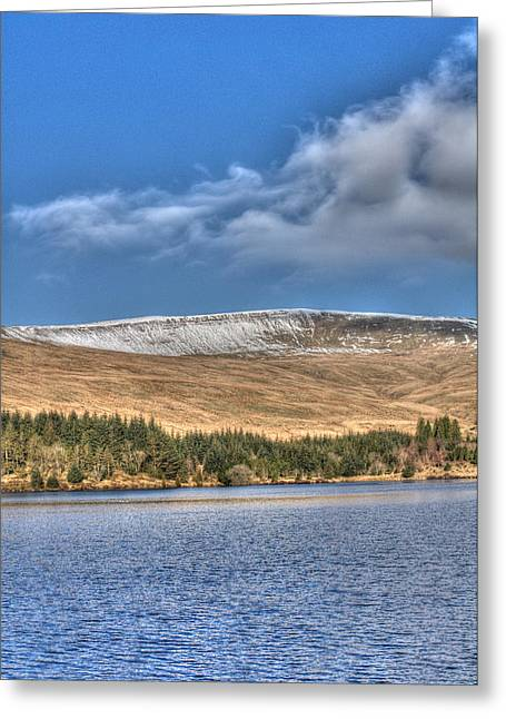 Fan Fawr And Beacons Reservoir 2 Greeting Card by Steve Purnell