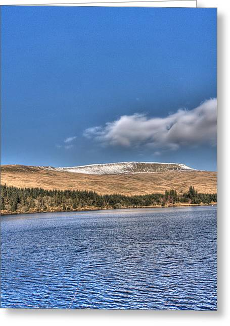 Fan Fawr And Beacons Reservoir 3 Greeting Card by Steve Purnell