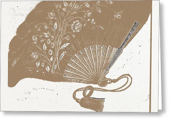 Fan For Evening Dress, Needlework Greeting Card by Litz Collection