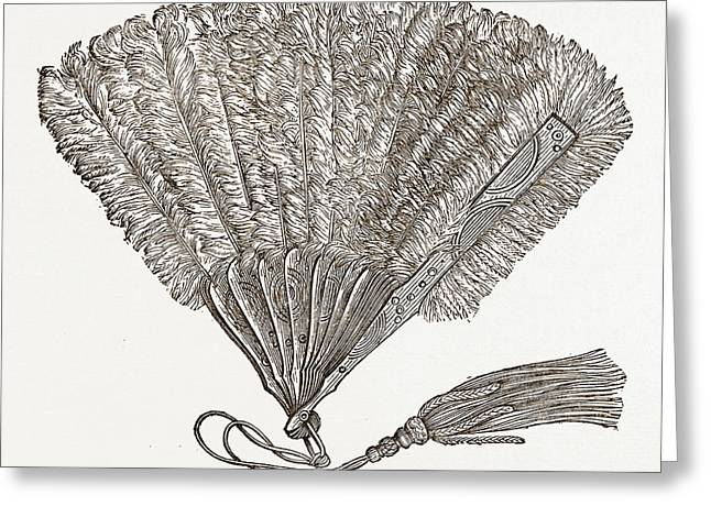 Fan For Evening Wear, Needlework Greeting Card by Litz Collection