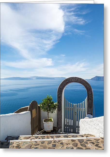 Fanastic View From Santorini Island Greeting Card