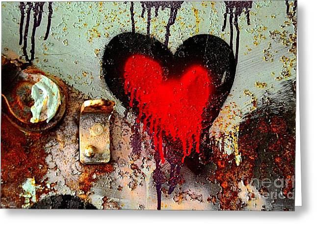 Fanatic Heart Greeting Card by Lauren Leigh Hunter Fine Art Photography
