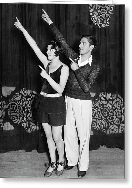 Fanchon & Marco Dance Team Greeting Card by Harry Wenger