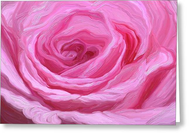 Fanciful Pink Greeting Card