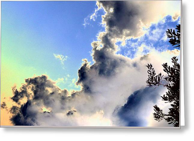 Greeting Card featuring the photograph Fanciful Sky by Jim Whalen
