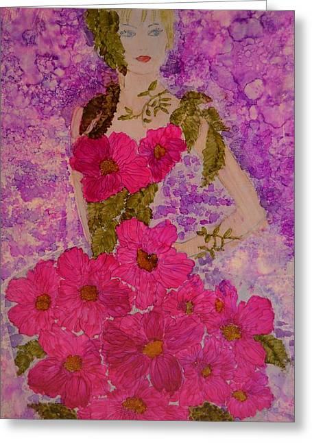 Fancy Dress Greeting Card by Linda Brown