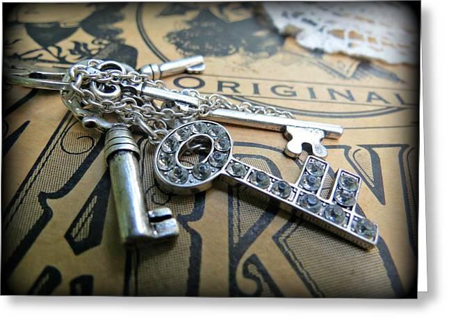 Fancy Keys Greeting Card by Andrea Wilkinson