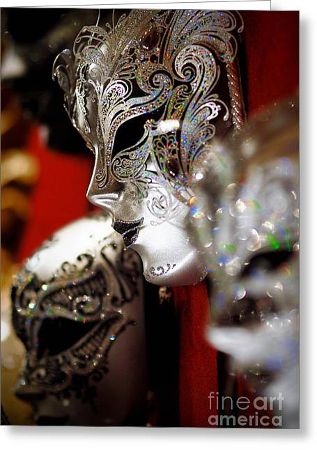 Fancy Masks For Masquerade Ball Greeting Card by Amy Cicconi