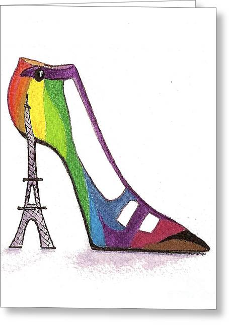 Fancy Parisian Shoe Greeting Card