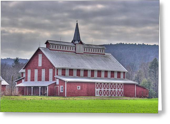 Fancy Red Barn Greeting Card by Shelly Gunderson