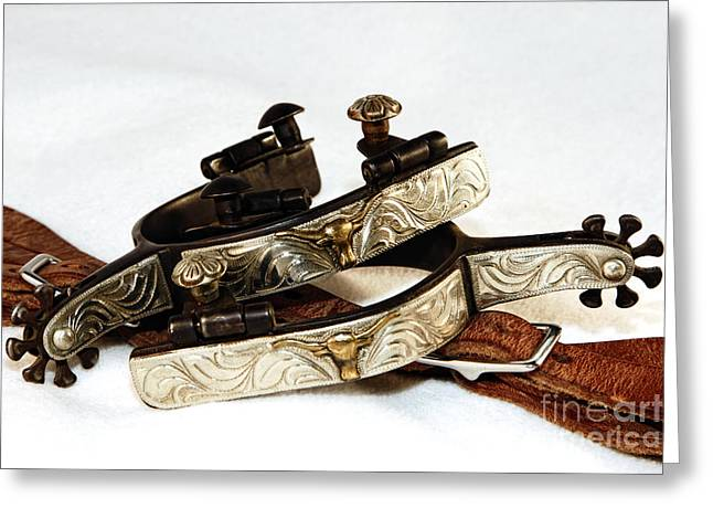 Greeting Card featuring the photograph Fancy Silver Spurs by Lincoln Rogers