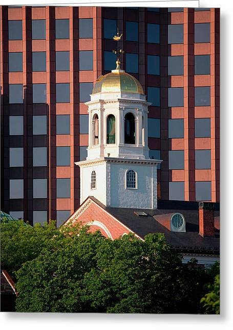 Faneuil Hall Weather Vane Tower, Built Greeting Card
