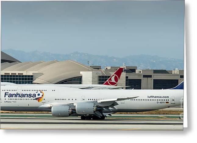 Fanhansa Boeing 747 Airliner Greeting Card