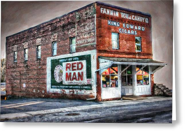 Fannin Tobacco And Candy Company Greeting Card by Kenny Francis