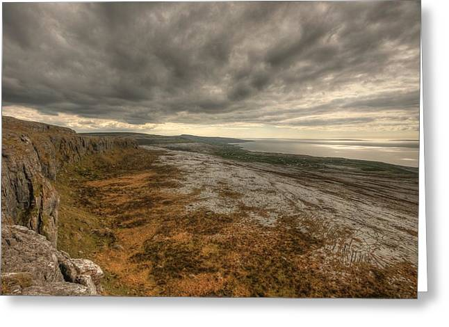 Galway Bay Greeting Cards - Fanore Burren View Greeting Card by John Quinn