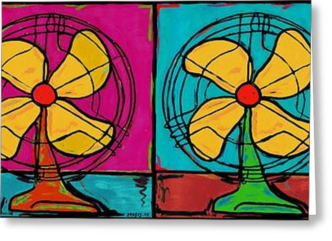 Fans In A Row Greeting Card by Dale Moses