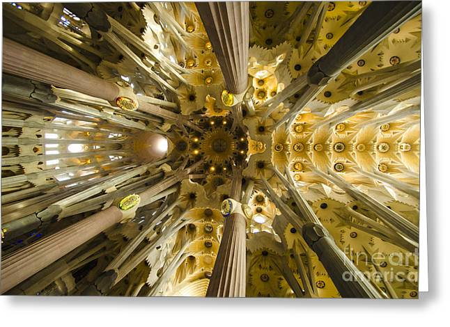 Fantabulous Sagrada Ceiling Greeting Card